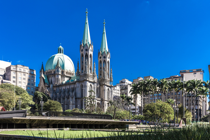 Sé Cathedral in Sao Paulo, Brazil